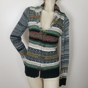 BKE sweater. Fair isle, south western print boho